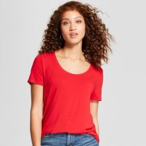 A New Day by Target Red scoop neck tee. Size small